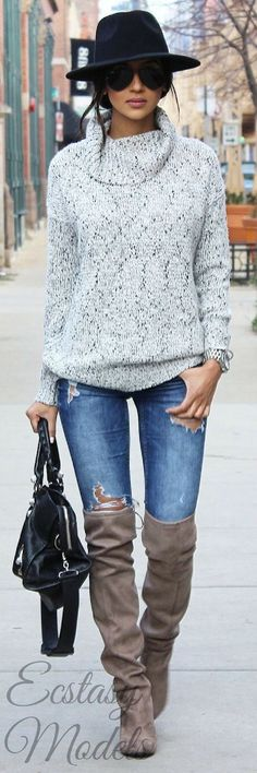 love the sweater, don't like super tall boots, but love the color of the boots, wold just want them below the knee