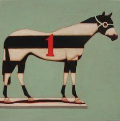 Brian Hibbard Horse - oil on canvas