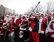 Fist-Fighting Santas Are Definitely Getting Coal for Christmas [VIDEO]