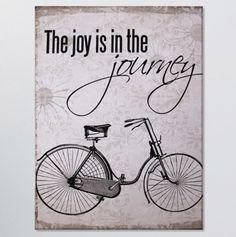 Cycling and joy .... #vintage #slogan