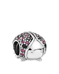 Pandora Charm - Sterling Silver, Cubic Zirconia & Crystal Sparkling Ladybug, Moments Collection