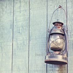Vintage Lantern - Rustic Cottage - Shabby Chic - Home Decor - Baby Nursery - Nautical Decor - Fine Art Photograph. $15.00, via Etsy.