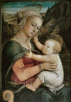 Fra FILIPPO LIPPI (1406-1469)   Madonna and Child.