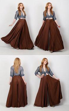 Indian Designer Outfits, Designer Dresses, Fashion Pants, Fashion Dresses, Marlene Hose, Diy Vetement, Mode Hijab, Dress Patterns, Sewing Patterns