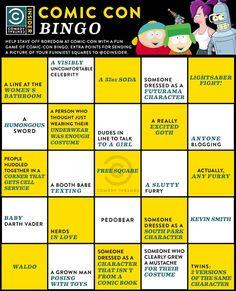 #ComicCon Bingo.  #SDCC