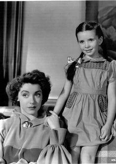 "Margaret O'Brien with Marsha Hunt in ""Lost Angel"" (1943)"