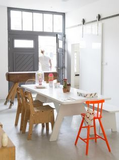 piet hein eek table and chairs