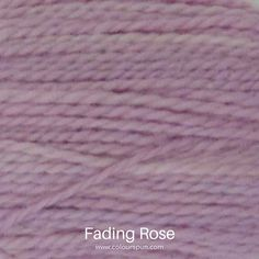 A ColourSpun Pure Cotton yarn and embroidery thread colour swatch. This colour is called Fading Rose Colour Swatches, Super Chunky Yarn, Fabric Yarn, Embroidery Thread, Fabric Design, Weaving, Rose, Cotton, Closure Weave