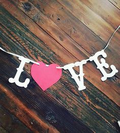 Love Banner Valentine's Day,Wedding,Save the Date Banner Photo Prop