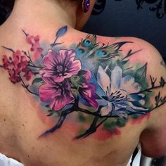 60 Best Upper Back Tattoos Designs Meanings All Types of 2019 Hi Here we have good wallpaper about tattoo designs upper back. Flower Tattoo Designs, Flower Tattoos, Monochrome Image, Backpiece Tattoo, Upper Back Tattoos, Back Tattoo Women Upper, Tattoo Trend, Schulter Tattoo, Flower Tattoo Shoulder