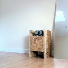 deVOL-kitchens-blog-Oriented strand board-shoe-box-storage-handmade-creative