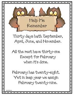 Sassy image within 30 days has september poem printable