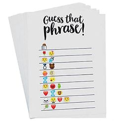 For an inexpensive game that the whole family can play, our Emoji Guess The Phrase Game is perfect for the bridal shower and the bachelorette party!