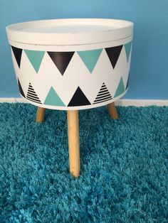 Cute storage table with wall decor stickers such a fun piece for a kids room Kmart Home, Wall Decor Stickers, Diy Holz, Woodland Nursery Decor, Table Storage, Kids Bedroom, Bedroom Ideas, Kid Spaces, Kids House