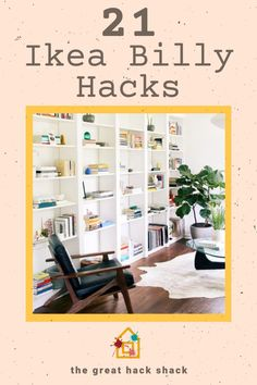The Ikea Billy bookcase is iconic. It is super simple, but you can use it as a great base for all numbers of Ikea billy bookcase hacks. #ikeabilly #billybookcase #billyhacks #ikeahack #ikeabillybookcasehack Ikea Billy Hack, Ikea Billy Bookcase Hack, Bookcase Door, Built In Bookcase, Ikea Furniture Hacks, Ikea Hacks, False Wall, Scarf Storage, Home Office Storage