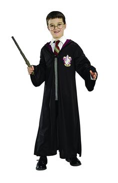 So fun for Halloween! Rubie's Official Harry Potter Pack Gryffindor Robe, Wand and Glasses Child's Costume - Standard Size: Amazon.co.uk: Toys & Games #affiliate