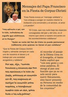 Mensajes del papa Francisco en la Fiesta de Corpus Christi. 2015