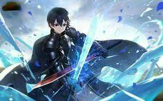 Kirito | Sword Art Online Alicization Kirito Sword, Sword Art Online Kirito, Kirito Kirigaya, Kirito Asuna, Manga Anime, Anime Guys, Arte Online, Online Art, Anime Games Online