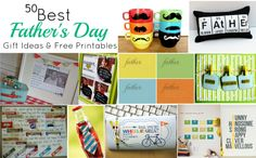 50 plus Father's day printables and gift ideas..