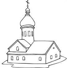 Dessin A Colorier Eglise Batiments Et Architecture 19 Coloriages A Imprimer Coloriage Dessin Eglise Art Filaire