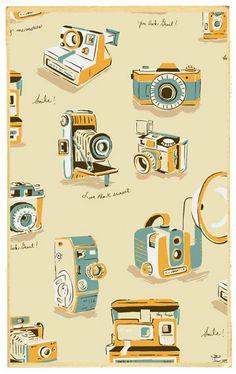 Heather Ross Munki Munki Vintage Cameras on by sewdeerlyloved