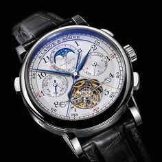 The A. Lange & Sohne Tourbograph Perpetual Pour Le Merite watch is a study in technical excellence.