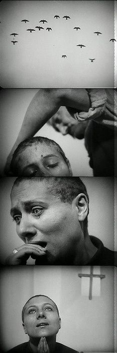 The Passion of Joan of Arc - (French: La Passion de Jeanne d'Arc) France Directed by Carl Theodor Dreyer and stars Renée Jeanne Falconetti. Re-released in A masterpiece of the silent film era. St Joan, Joan Of Arc, Beau Film, Carl Theodor Dreyer, Jeanne D'arc, Sad Movies, Fritz Lang, Movie Shots, Film Studies