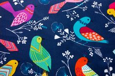 Stoff Flock Vögel | www.pom-pon.ch Pom Pon, Michael Miller, Flocking, Kids Rugs, Home Decor, Decoration Home, Kid Friendly Rugs, Room Decor, Interior Decorating