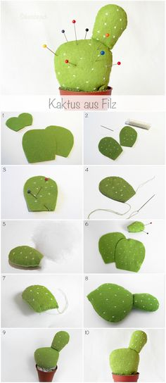 Tutorial: How to sew a felt cactus pincushion, www.deschdanja.ch