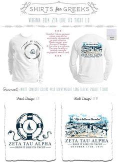 ZTA | Zeta Tau Alpha | Nautical | Greek Life | Formal | Yacht | Sorority Designs | Tshirts | shirtsforgreeks.com