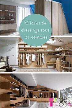 10 idées pour aménager son dressing sous les combles http://www.deco.fr/diaporama/photo-amenage-dressing-combles-74891/