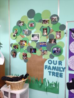 School family photo wall. I made this for my classroom to display the children's…