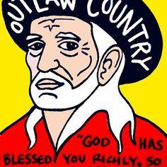 Willie Nelson Country Pop Folk Art