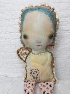Muñeca Angel primitivo Prim pintado Ragdoll pintado tela