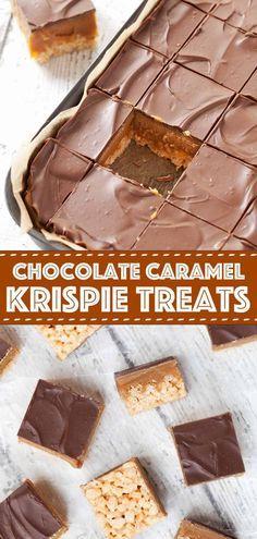 Tray Bake Recipes, Easy Cheesecake Recipes, Baking Recipes, Dessert Recipes, No Bake Caramel Cheesecake, Desserts, Chocolate Traybake, Chocolate Caramels, Chocolate Recipes