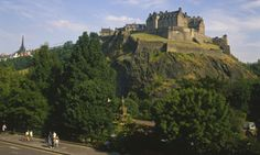 Scotland - (Looking up to Edinburgh Castle at the top of Arthur's Seat)