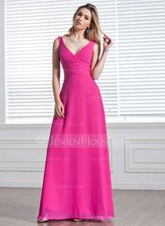 Bridesmaid Dresses - $109.99 - A-Line/Princess V-neck Floor-Length Chiffon Bridesmaid Dress With Ruffle (007001819) similar again, may also work, champagne?