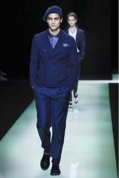Emporio Armani punctuated the idea of modern vintage by partnering up with Vespa.  #MilanFashionWeek