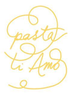 Pasta Ti Amo poster by anek via etsy. (Pasta, I love you). Kitchen Prints, Kitchen Art, Kitchen Ideas, Chef Kitchen, Kitchen Inspiration, Food Inspiration, Kitchen Decor, Branding, Trattoria Italiana