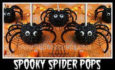 Spider Cake Pops #halloweentreats howdoesshe.com