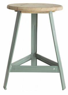 Housedoctor Kruk groen metaal/hout Ø32x48cm, Stool Have a seat vespa green