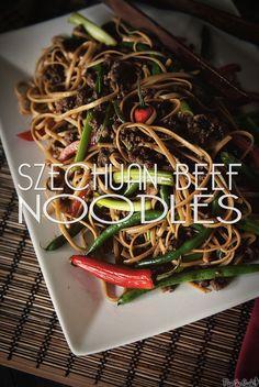 Spicy Szechuan Beef Noodles \\ GirlCarnivore.com