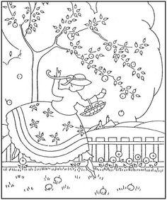 Apple Girl - Embroidery pattern- Sues & Gals | Adair733 via Flickr