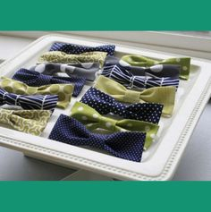fun boy baby shower ideas...including these handmade bowties