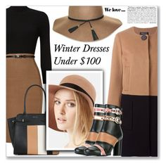 """""""Winter Dresses Under $100"""" by shoaleh-nia ❤ liked on Polyvore featuring Phase Eight, Twin-Set, Nine West, Lanvin and Zara"""