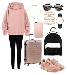 A fashion look from January 2017 featuring oversized hoodie, stretch jeans and adidas sneakers. Browse and shop related looks. Chill Outfits, Sport Outfits, Apple Shape Outfits, Airport Chic, Minimal Outfit, Business Casual Outfits, Kpop Fashion Outfits, Other Outfits, Glamour