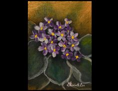 """""""NKF's Violet,"""" An Original Acrylic Painting by Elizabeth Lee or Richmond, Virginia. Donation to the National Kidney Foundation for a Silent Auction Fundraiser..."""