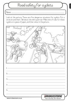 Printables Pedestrian Safety Worksheets road rules english and worksheets on pinterest safety for cyclists lifeskills worksheet grade 2