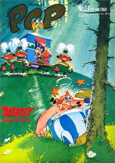Pep cover, by Daan Jippes Comic Book Artists, Comic Book Characters, Asterix E Obelix, Albert Uderzo, Best Comic Books, Ligne Claire, Bd Comics, Graphic Novels, Illustration