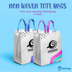 Carry your everyday belongings in style. #bags #totebag #ecofriendly #style #promotions #advertisement #wholesale #giveaway #gifts #events #branding #Trending #marketing Promotional Bags, Picnic Bag, Personalized Tote Bags, Wholesale Bags, Luggage Bags, Paper Shopping Bag, Branding, China, Giveaway